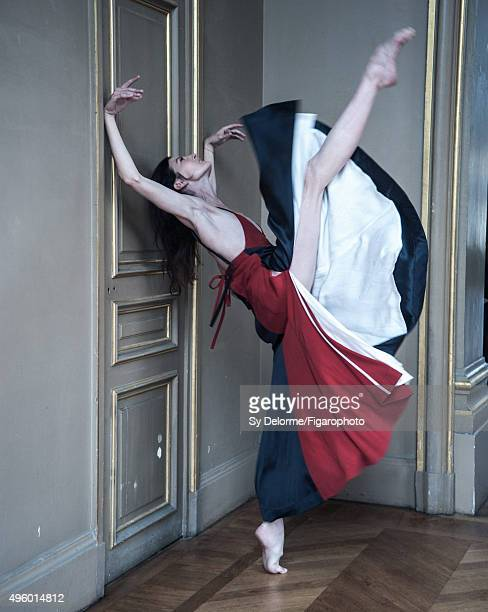 Ballerina Marie Agnes Gillot is photographed for Madame Figaro on September 4 2015 in Paris France Dress PUBLISHED IMAGE CREDIT MUST READ Sy...