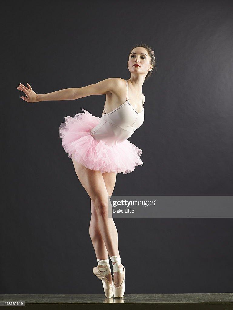 Ballerina On Point Looking Away