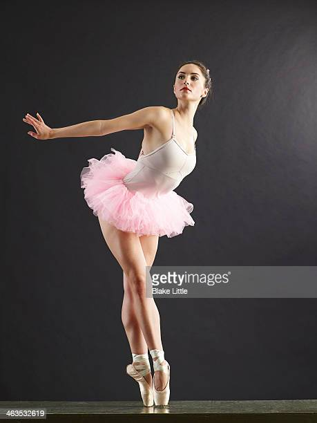 Ballerina On Point Looking Away