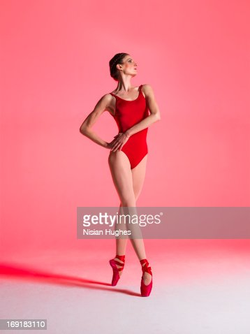 Ballerina performing fourth position croisee