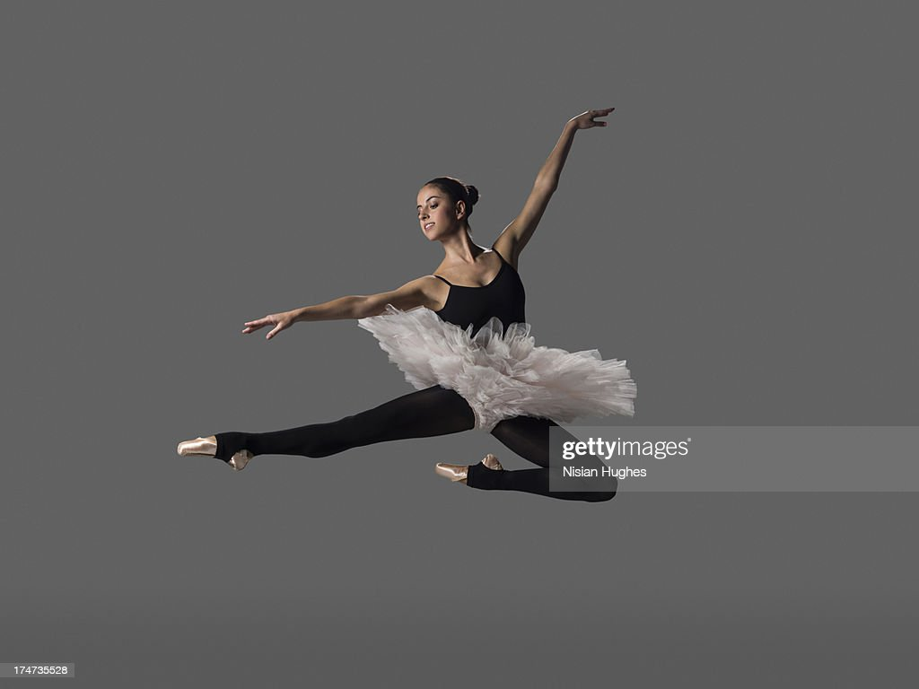 Ballerina performing pas de chat