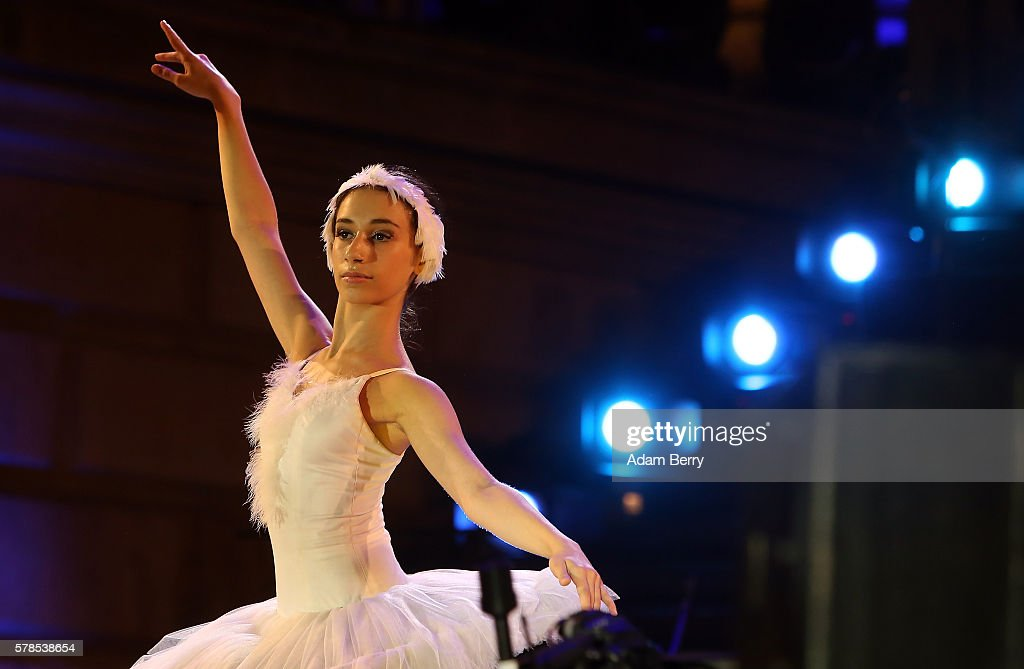 A ballerina performs at the opening night of the Classic Open Air festival at Gendarmenmarkt on July 21 2016 in Berlin Germany