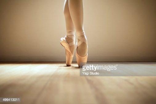 Ballerina standing on toes