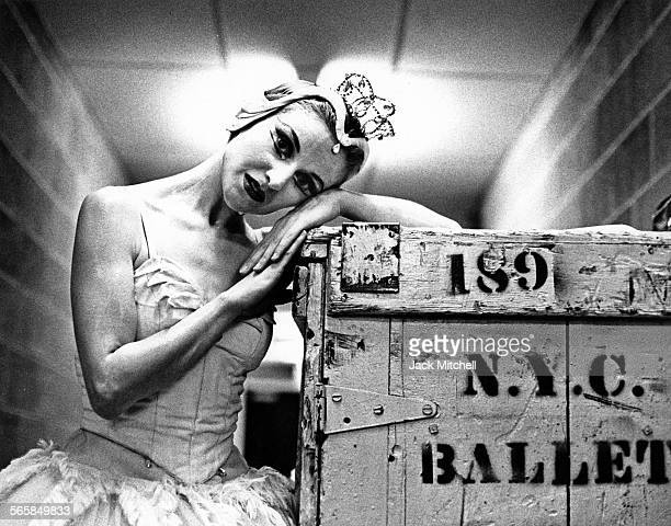 NYCB ballerina Violette Verdy backstage 1968 Photo by Jack Mitchell/Getty Images