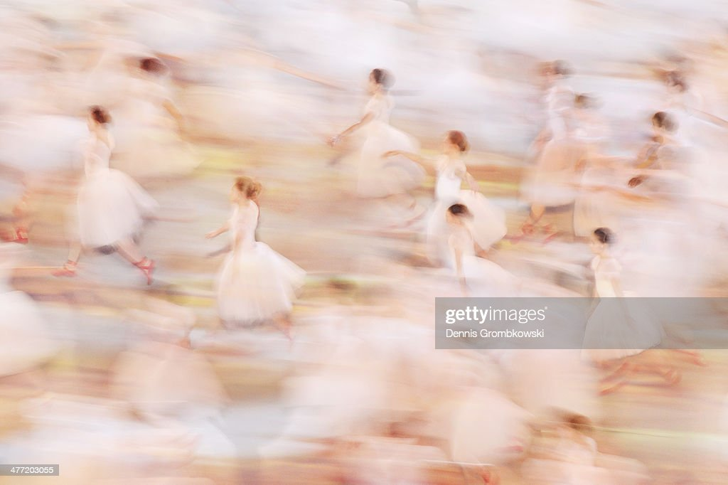 Ballerinas dance during the Opening Ceremony of the Sochi 2014 Paralympic Winter Games at Fisht Olympic Stadium on March 7, 2014 in Sochi, Russia.