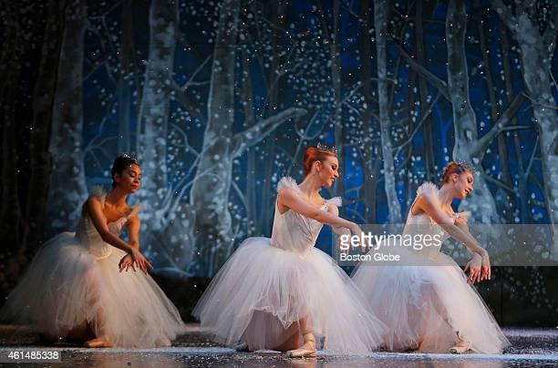 Ballerinas perform during Boston Ballet's dress rehearsal for 'The Nutcracker' at the Boston Opera House in Boston Massachusetts November 26 2014