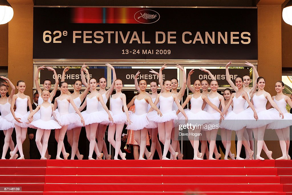 Ballerinas pose at the 'Up' Premiere at the Palais De Festival during the 62nd International Cannes Film Festival on May 13, 2009 in Cannes, France.