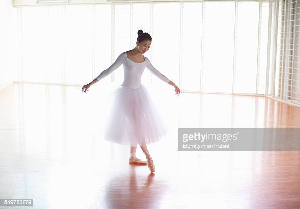 Ballet dancer dancing in studio