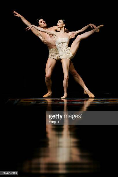 Ballet dancer Etoile Roberto Bolle and his partner perform during the Women's and Men's AutumnWinter 2008 Fashion Show of Italian brand Salvatore...