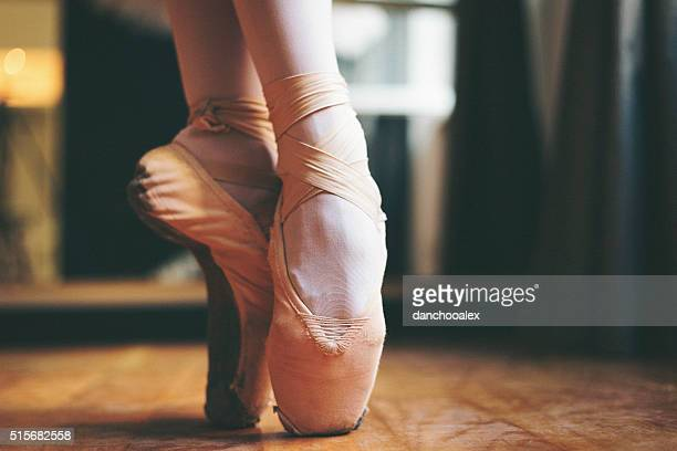 Ballet dancer feet