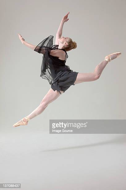 Ballet dancer in mid air