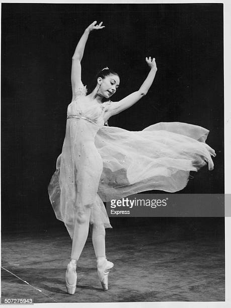 Ballet dancer Margot Fonteyn performing on stage in the ballet 'Ondine' at the Theatre Royal London October 24th 1958