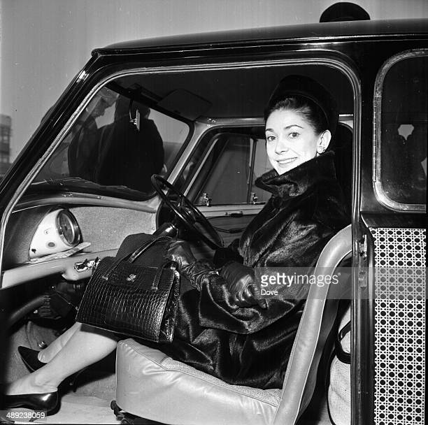 Ballet dancer Margot Fonteyn photographed getting out of her car at London Airport February 8th 1964