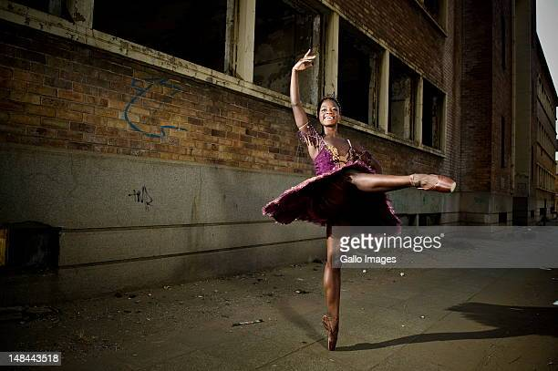Ballet dancer Michaela DePrince poses on July 12 2012 in Johannesburg South Africa DePrince is in South Africa to perform her first professional full...