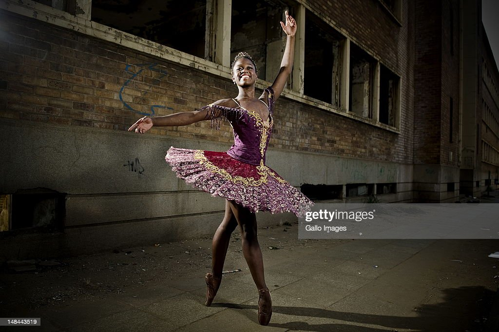 Ballet dancer Michaela DePrince poses on July 12, 2012 in Johannesburg, South Africa. DePrince is in South Africa to perform her first professional full ballet role as the lead in 'Le Corsaire.' DePrince, who was born in Sierra Leone, escaped the civil war and was adopted by a family in the U.S.