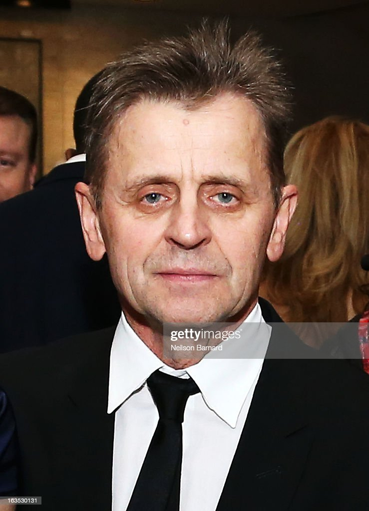 Ballet dancer <a gi-track='captionPersonalityLinkClicked' href=/galleries/search?phrase=Mikhail+Baryshnikov&family=editorial&specificpeople=204507 ng-click='$event.stopPropagation()'>Mikhail Baryshnikov</a> attends the School of American Ballet 2013 Winter Ball at David H. Koch Theater, Lincoln Center on March 11, 2013 in New York City.