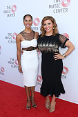 Ballet Dancer Misty Copeland and Actress Justina Machado attend the Music Center's Summer Soiree at The Music Center Plaza on July 7 2016 in Los...