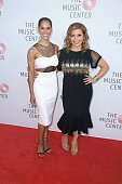 Ballet Dancer Misty Copeland and Actress Justina Machado attend The Music Center's Summer Soiree Honoring Rita Moreno at The Music Center Plaza on...