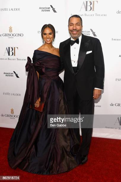 Ballet dancer Misty Copeland and honoree Valentino Carlotti attend the American Ballet Theatre Fall Gala at David H Koch Theater at Lincoln Center on...