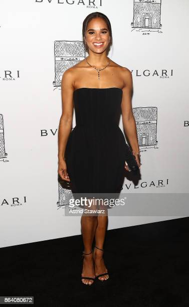Ballet dancer Misty Copeland attends Bulgari 5th Avenue flagship store opening on October 20 2017 in New York City