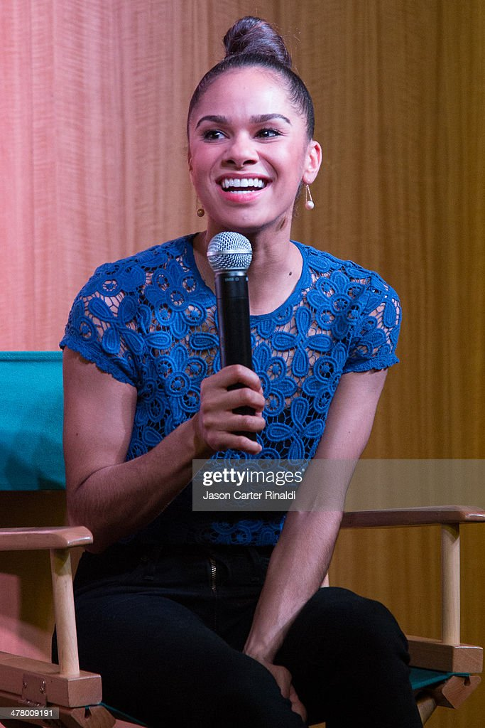 Ballet dancer <a gi-track='captionPersonalityLinkClicked' href=/galleries/search?phrase=Misty+Copeland&family=editorial&specificpeople=2444160 ng-click='$event.stopPropagation()'>Misty Copeland</a> attends <a gi-track='captionPersonalityLinkClicked' href=/galleries/search?phrase=Misty+Copeland&family=editorial&specificpeople=2444160 ng-click='$event.stopPropagation()'>Misty Copeland</a> In Conversation With Vogue's Chloe Malle at Barnes & Noble, 86th & Lexington on March 11, 2014 in New York City.