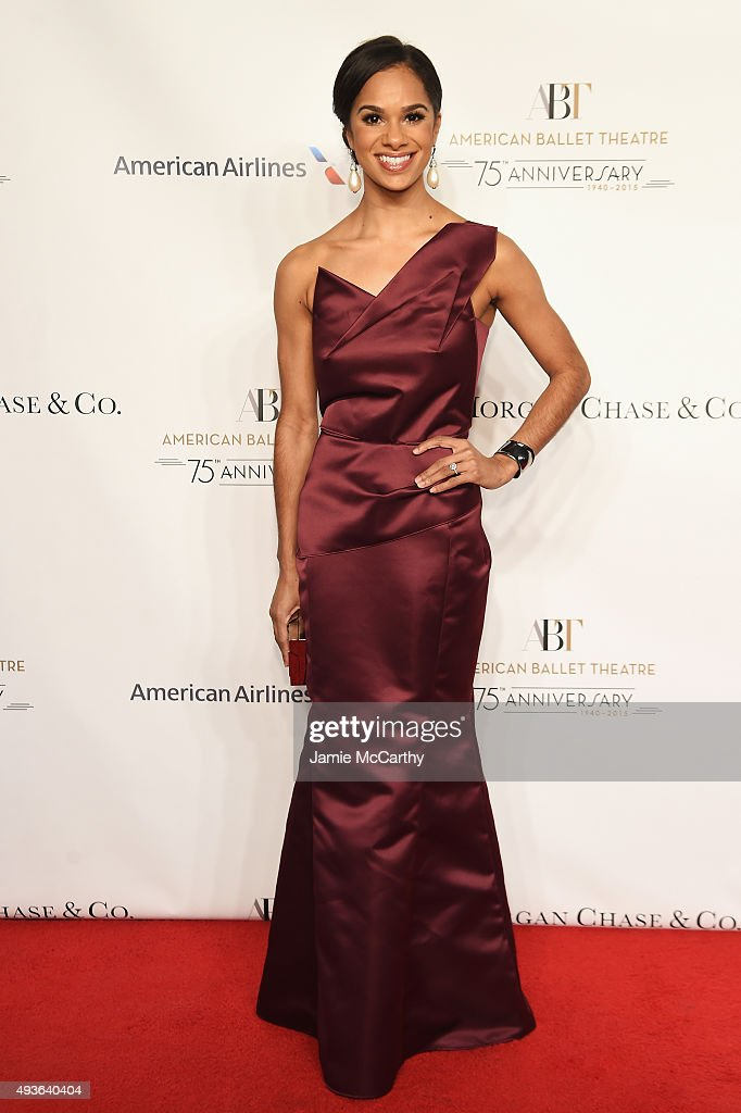 Ballet Dancer Misty Copeland attends the American Ballet 75th Anniversary Fall Gala at David H. Koch Theater at Lincoln Center on October 21, 2015 in New York City.