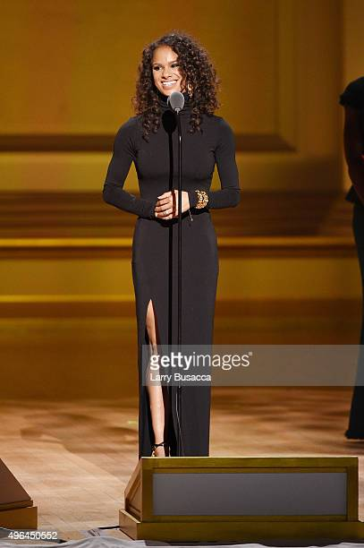 Ballet dancer Misty Copeland speaks onstage at the 2015 Glamour Women of the Year Awards on November 9 2015 in New York City