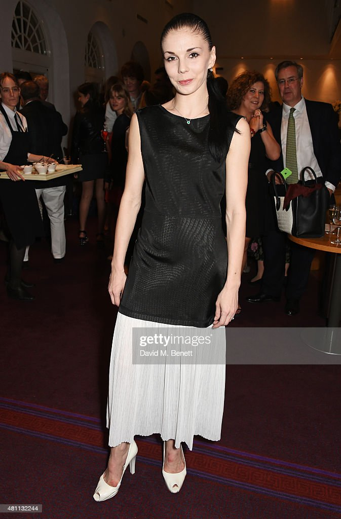 Ballet dancer Natalia Osipova attends a post-show drinks reception following the Ardani 25 Dance Gala at The London Coliseum on July 17, 2015 in London, England.