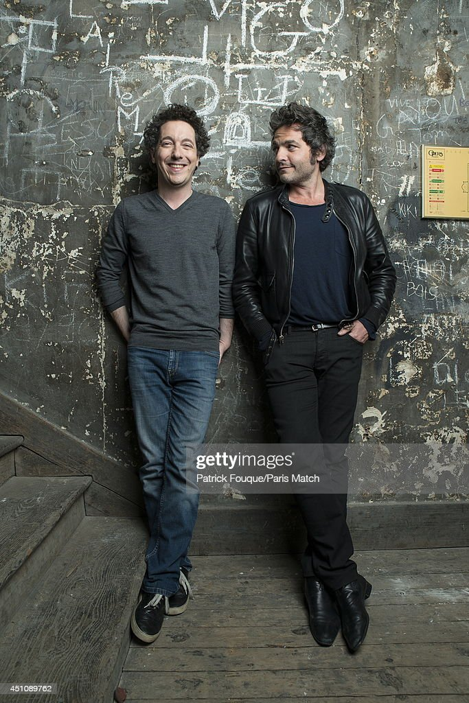 Ballet dancer Nicolas le Riche and Mathieu Chedid are photographed for Paris Match on May 27, 2014 in Paris, France.