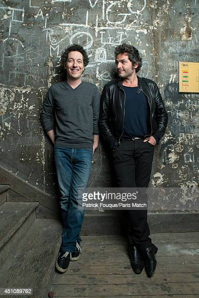 Ballet dancer Nicolas le Riche and Mathieu Chedid are photographed for Paris Match on May 27 2014 in Paris France