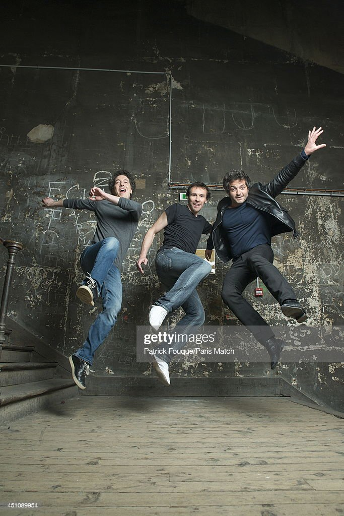 Ballet dancer Nicolas le Riche, Guillaume Gallienne and Mathieu Chedid are photographed for Paris Match on may 27, 2014 in Paris, France.