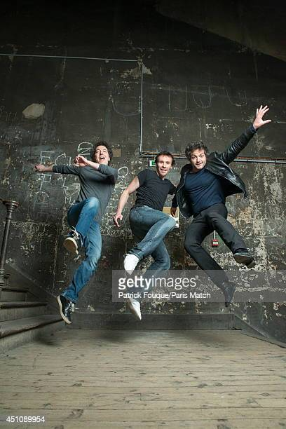 Ballet dancer Nicolas le Riche Guillaume Gallienne and Mathieu Chedid are photographed for Paris Match on may 27 2014 in Paris France
