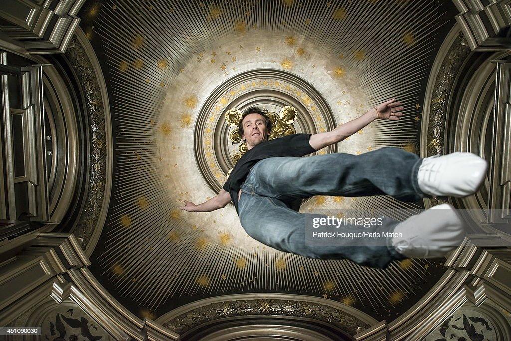 Ballet dancer Nicolas le Riche is photographed for Paris Match under the dome of the Opera of Paris on may 27, 2014 in Paris, France.