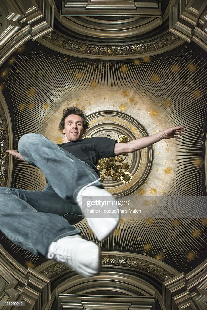 Ballet dancer Nicolas le Riche is photographed for Paris Match under the dome of the Opera Paris on may 27, 2014 in Paris, France.
