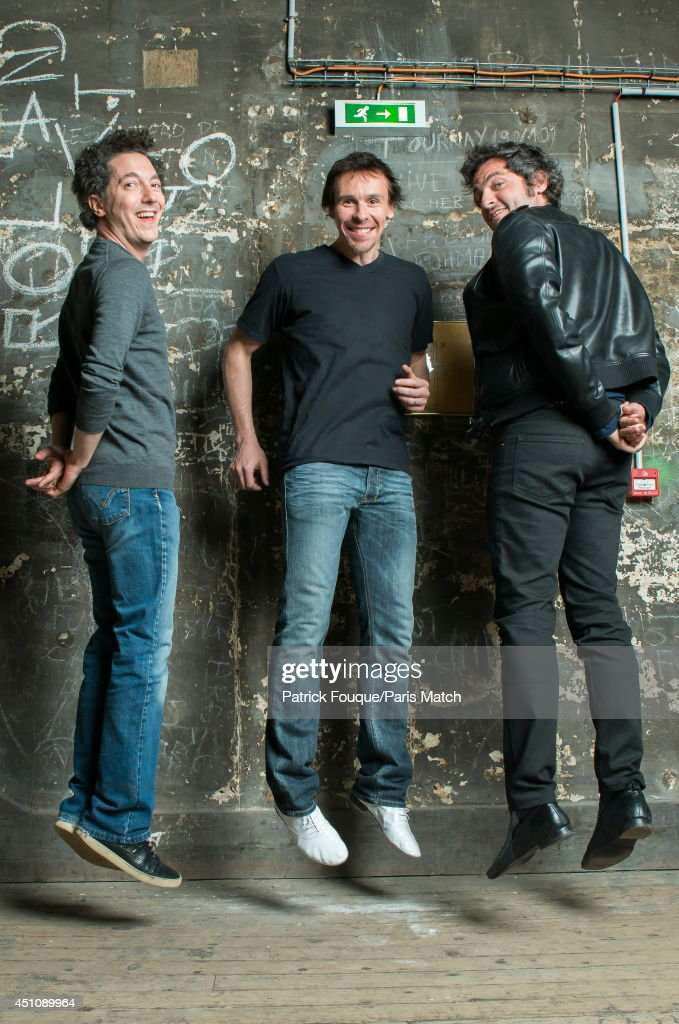 Ballet dancer Nicolas le Riche with Guillaume Gallienne, Matthieu Chedid are photographed for Paris Match at the Opera of Paris on may 27, 2014 in Paris, France.