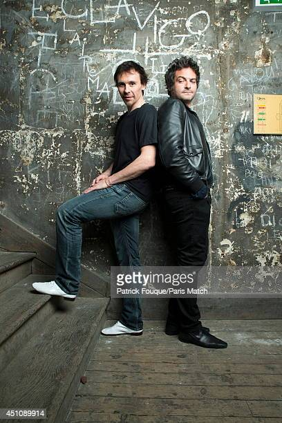 Ballet dancer Nicolas le Riche with Mathieu Chedid are photographed for Paris Match at the Opera of Paris on may 27 2014 in Paris France