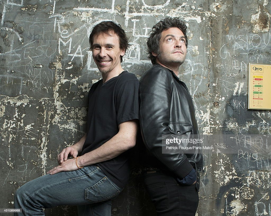 Ballet dancer Nicolas le Riche with Mathieu Chedid are photographed for Paris Match on may 27, 2014 in Paris, France.