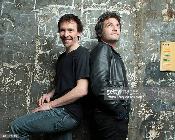 Ballet dancer Nicolas le Riche with Mathieu Chedid are photographed for Paris Match on may 27 2014 in Paris France