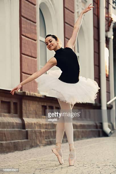 ballet dancer on a city street
