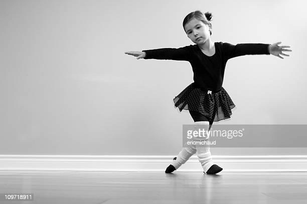 Ballet dancer practicing