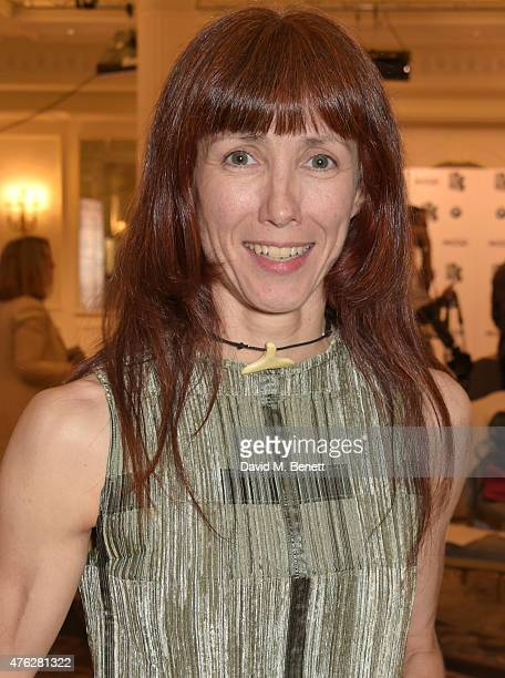 Ballet dancer Sylvie Guillem winner of the Outstanding Achievement award attends the South Bank Sky Arts awards at The Savoy Hotel on June 7 2015 in...