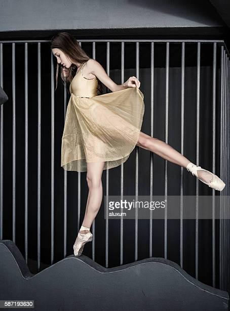 Ballet dancer urban performance