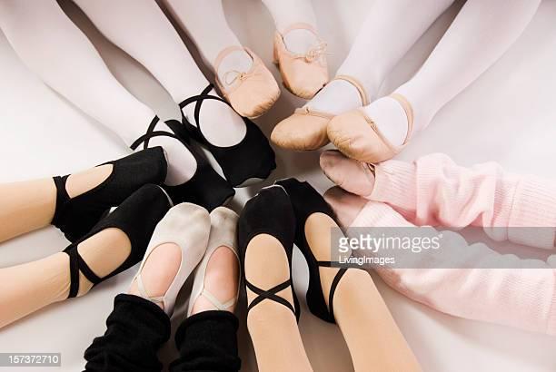 Pieds de danseurs de Ballet