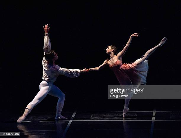 Ballet dancers Joan Boada and Maria Kochetkova perform during Act I Scene VI in the San Francisco Ballet Production of Prokofiev's 'Romeo Juliet'...
