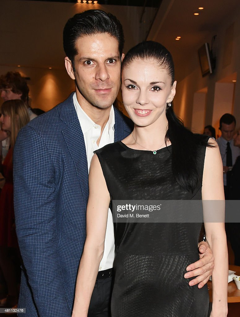 Ballet dancers Marcelo Gomes (L) and Natalia Osipova attend a post-show drinks reception following the Ardani 25 Dance Gala at The London Coliseum on July 17, 2015 in London, England.