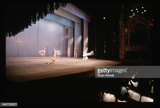 Ballet dancers on stage in the Mariisky theater Many of Tchaikovsky's ballets were originally premiered here and they still are performed in this...
