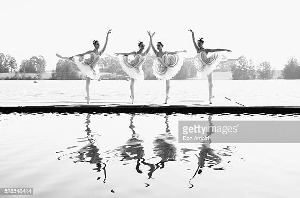 Ballet dancers perform during a media call for the Australian Ballet at Sydney International Regatta Centre on May 6 2016 in Sydney Australia