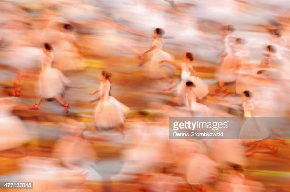 Ballet dancers perform during the Opening Ceremony of the Sochi 2014 Paralympic Winter Games at Fisht Olympic Stadium on March 7 2014 in Sochi Russia