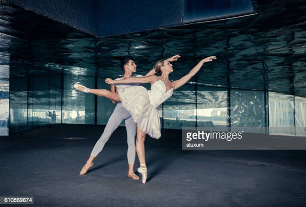 Ballet dancers performance in the city