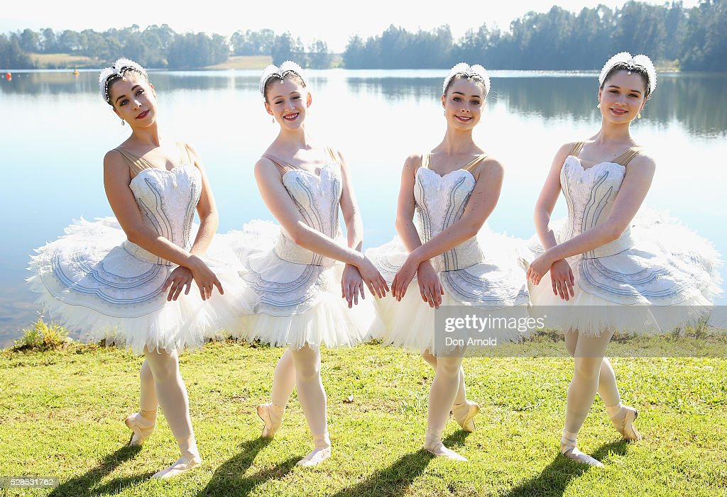 Ballet dancers pose during a media call for the Australian Ballet at Sydney International Regatta Centre on May 6, 2016 in Sydney, Australia.